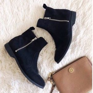 H&M Black Ankle Booties Small Heel Size 8 Boots